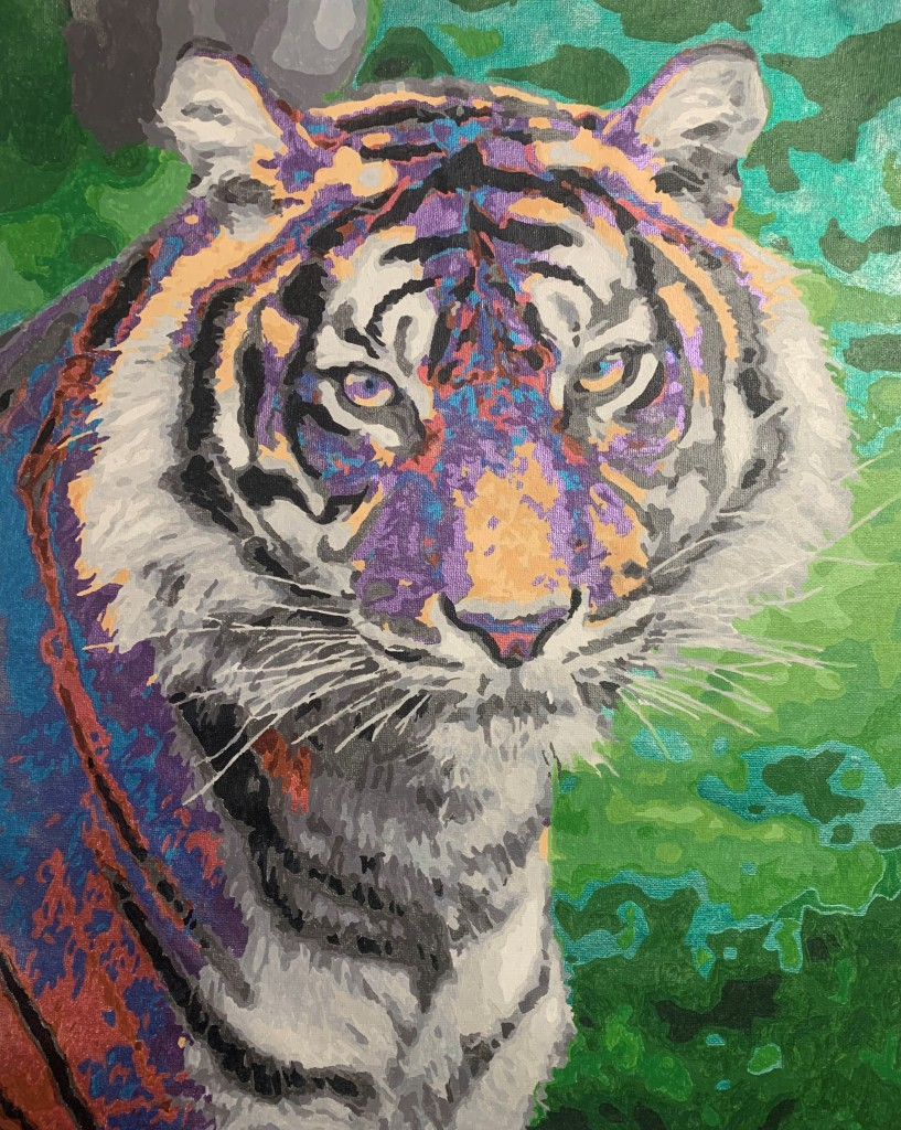 tiger paint by numbers piece